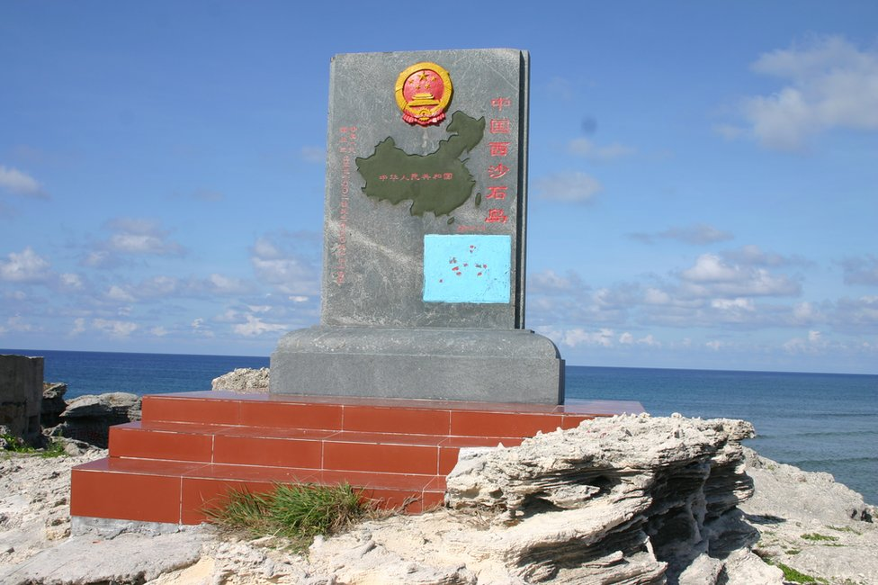 Chinese Communist Party plaque on Yongxing/Woody Island