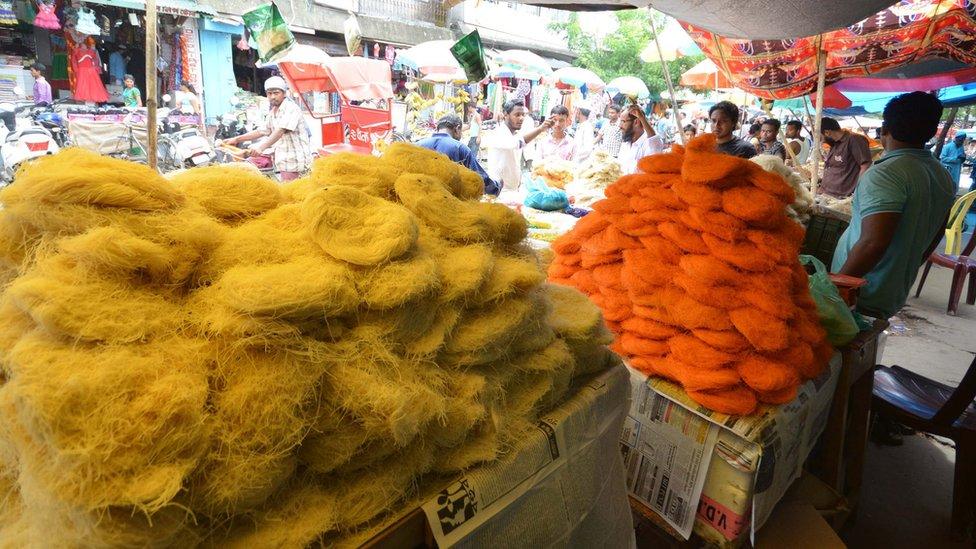 Vendor selling sweet vermicelli
