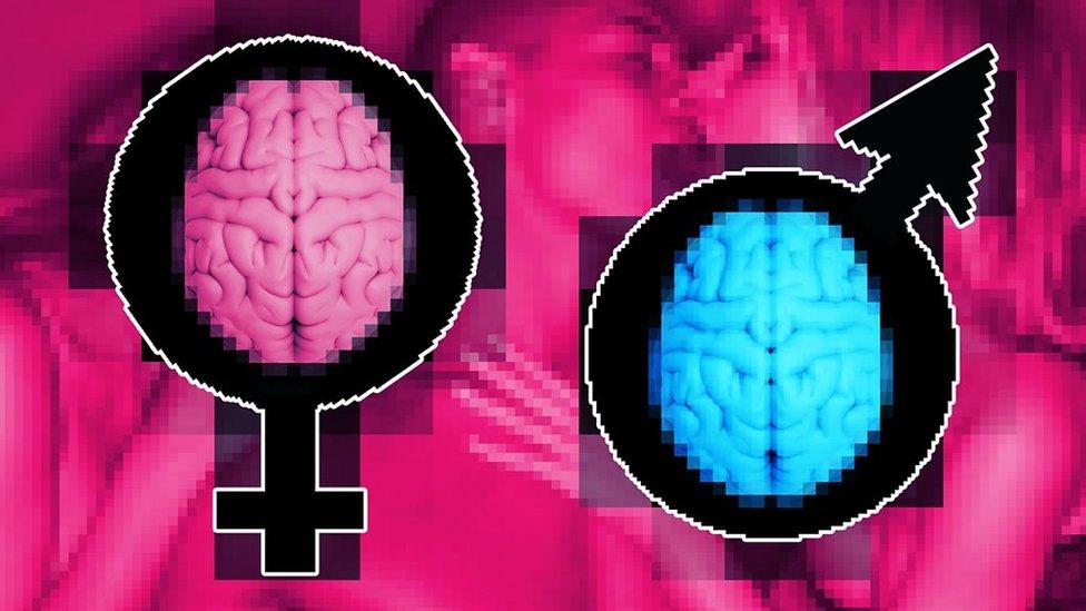 Collage para indicar sexo femenino y masculino