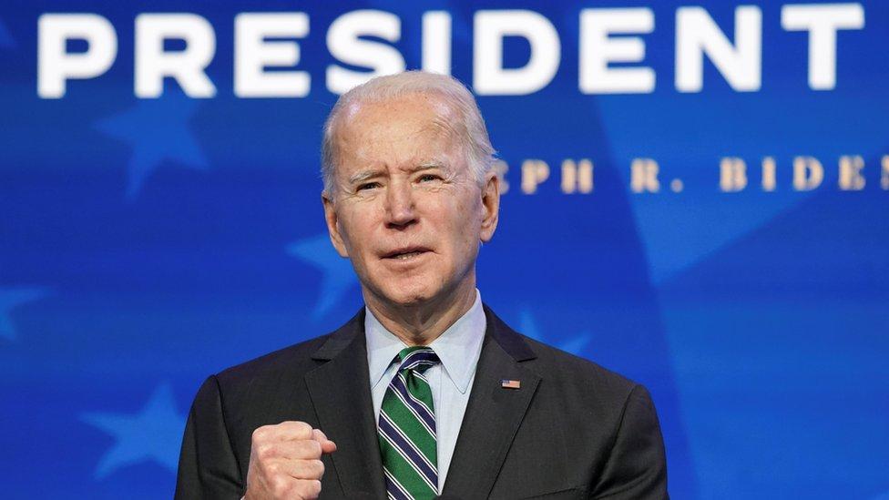 Joe Biden el 16 de enero de 2020