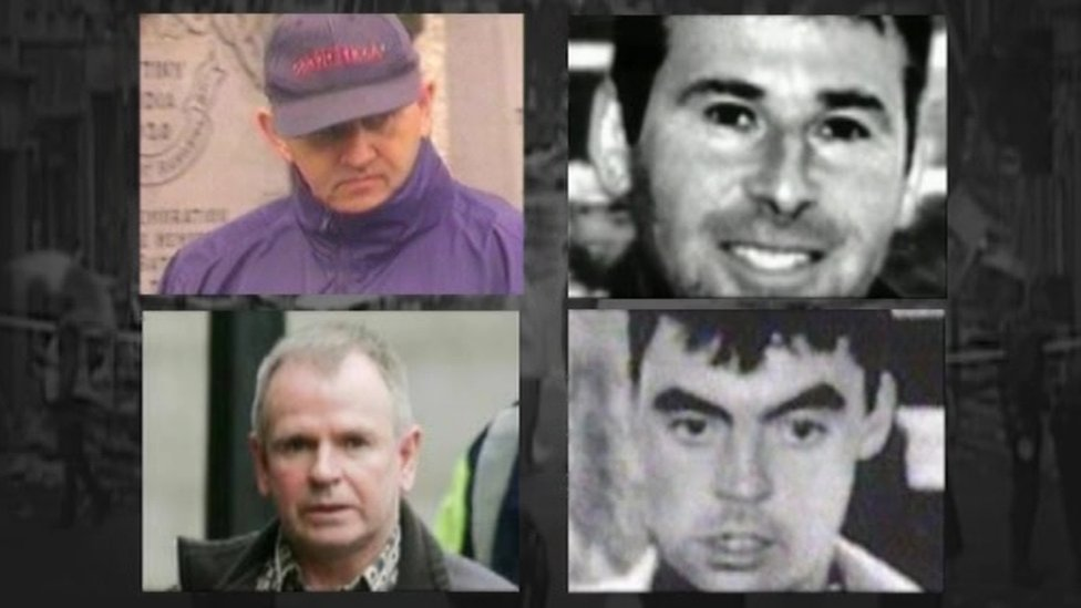 Clockwise from top left: Michael McKevitt, Liam Campbell, Colm Murphy and Seamus Daly
