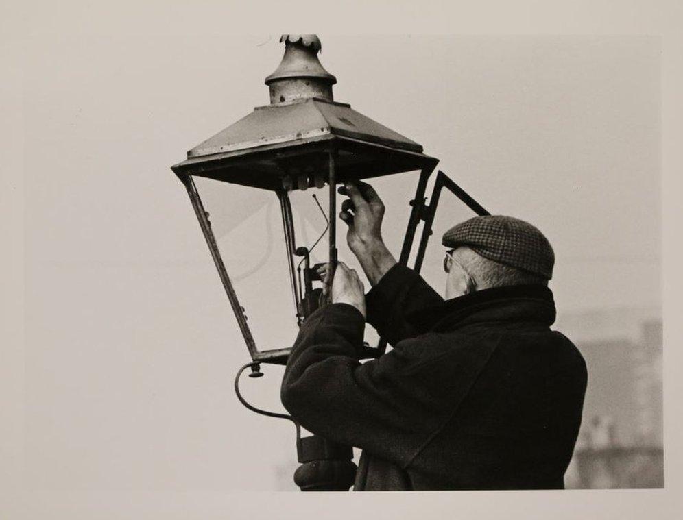 Lamplighter, Gorbals, 1964