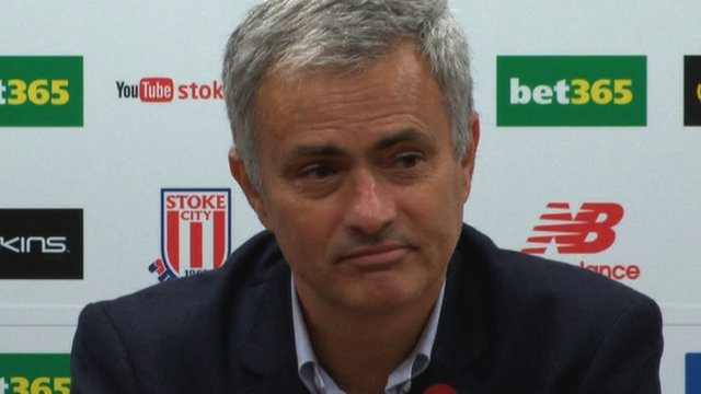 Jose Mourinho speaks to the press after Chelsea's League Cup defeat to Stoke