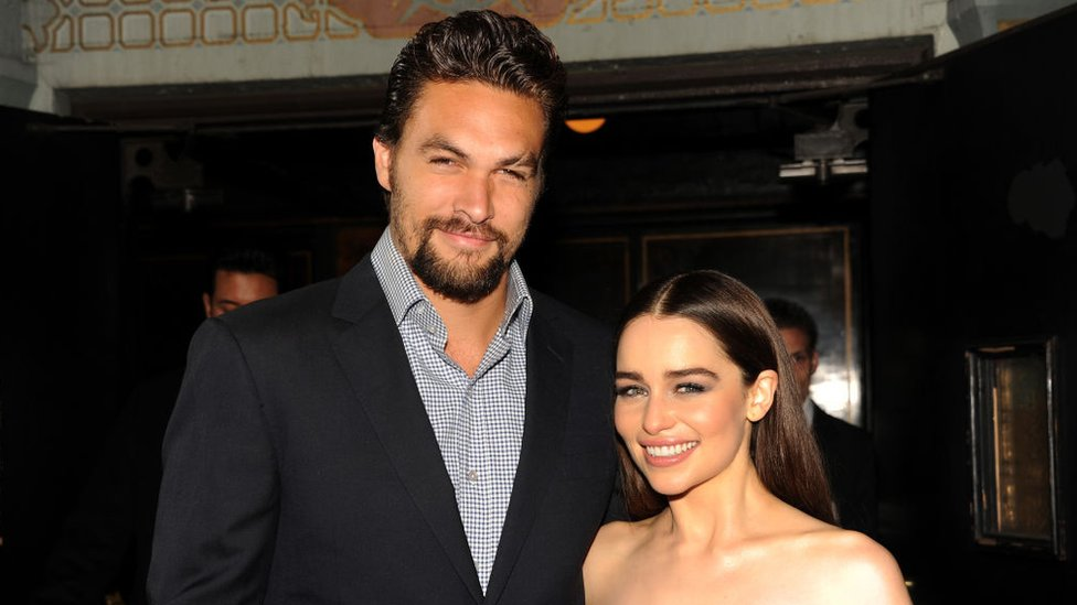 Emilia and Jason at the season three premiere in 2013