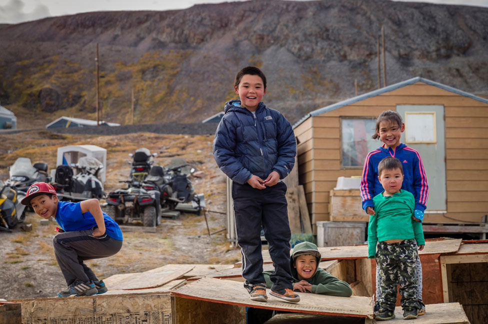 Inuit children on Baffin Island