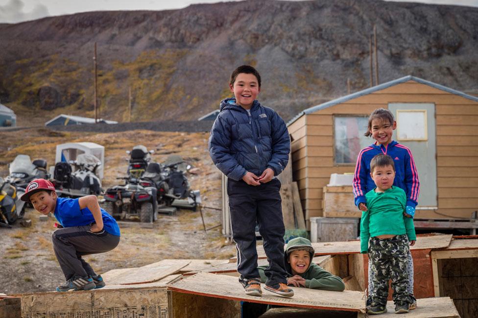 Inuit children on Baffin Island