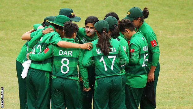 The Pakistan women's team at the World T20