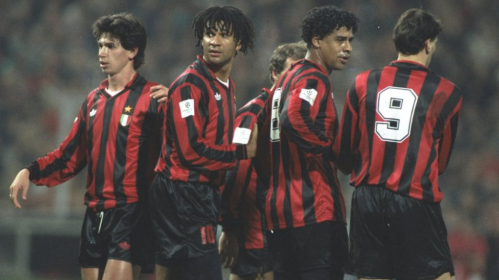 Albertini, Gullit, Baresi, Rijkaard y Van Basten, equipazo.