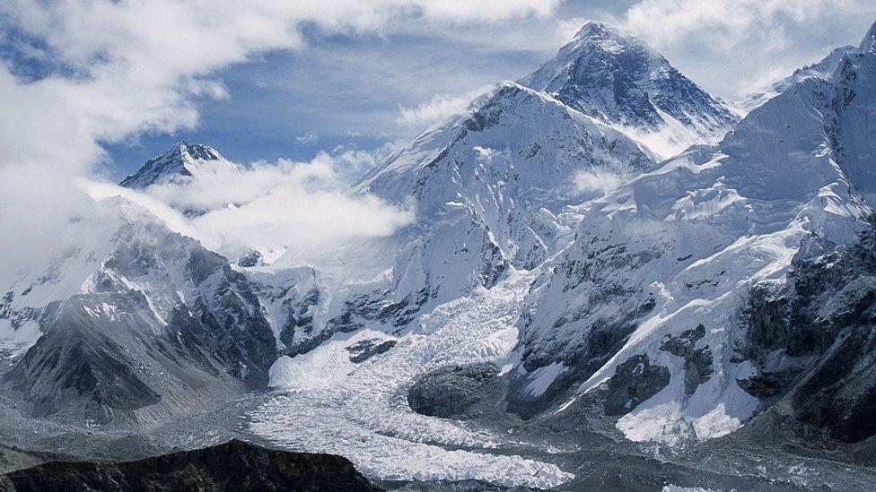 Khumbu glacier in the Everest region
