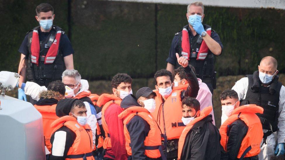 Migrants arrive in Dover