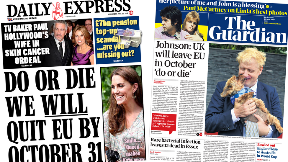 Paper review: Johnson's 'do or die' Brexit pledge