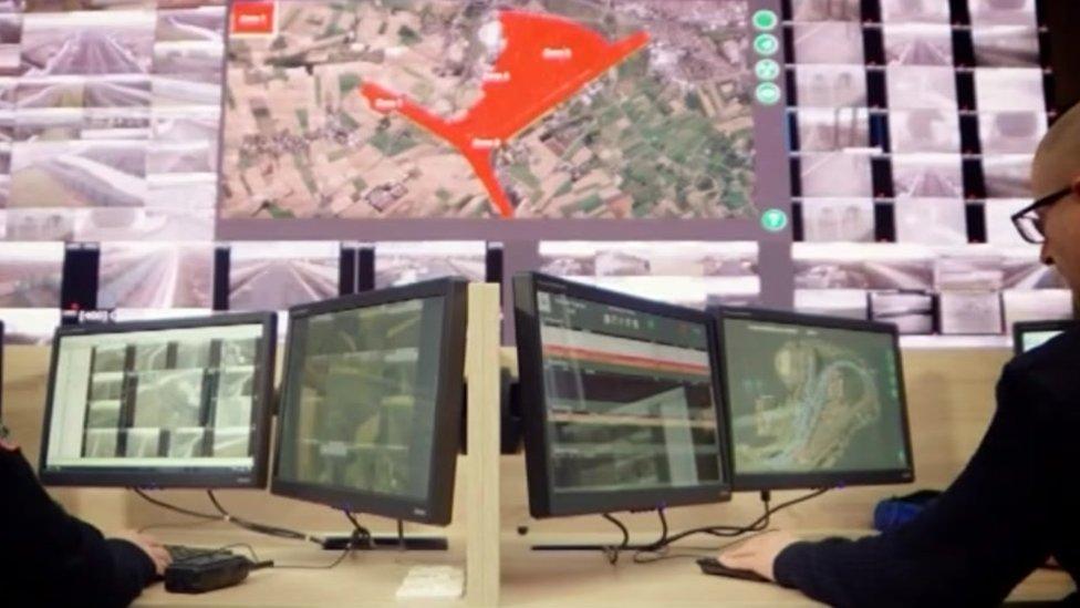 Eurotunnel security control centre