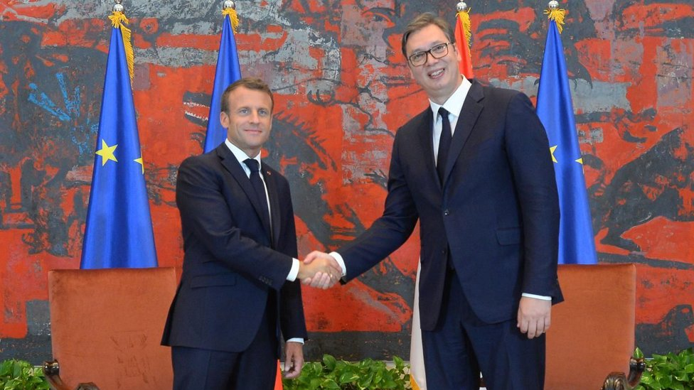 Makron i Vučić u Beogradu