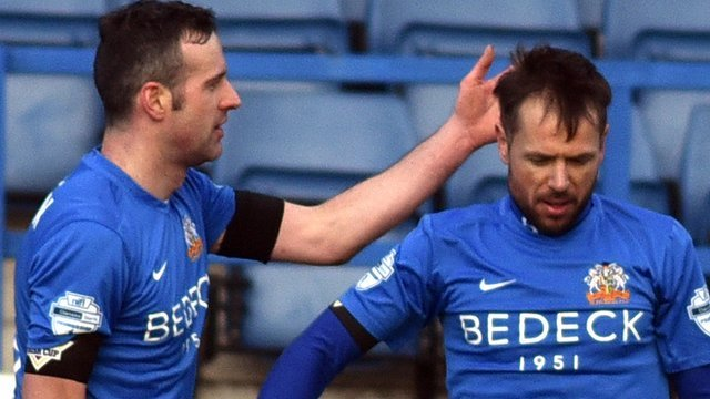 Glenavon's Ciaran Martyn and Declan O'Brien