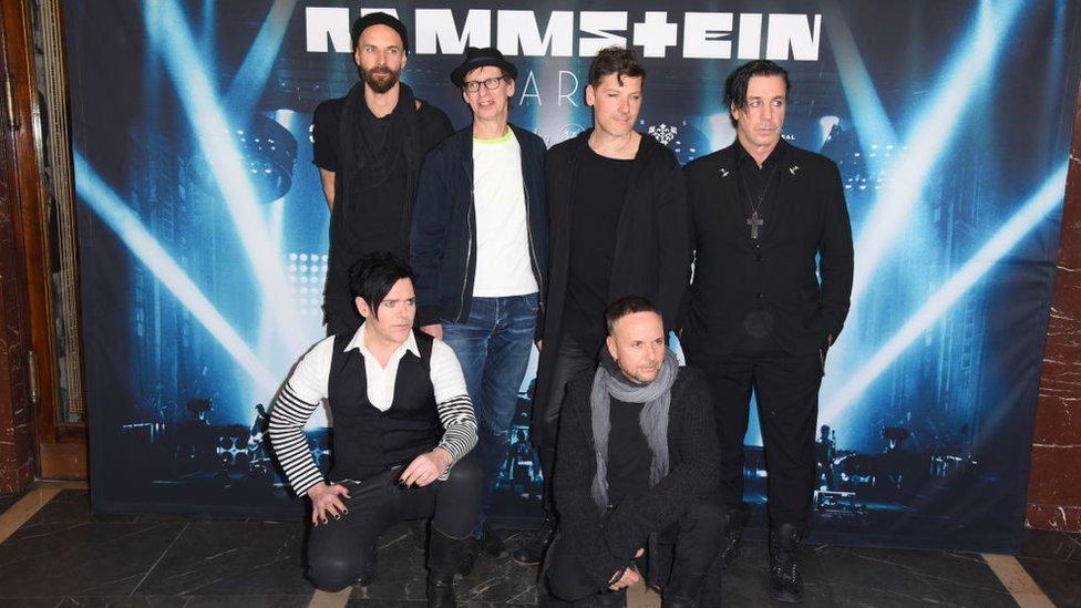 Integrantes de Rammstein.