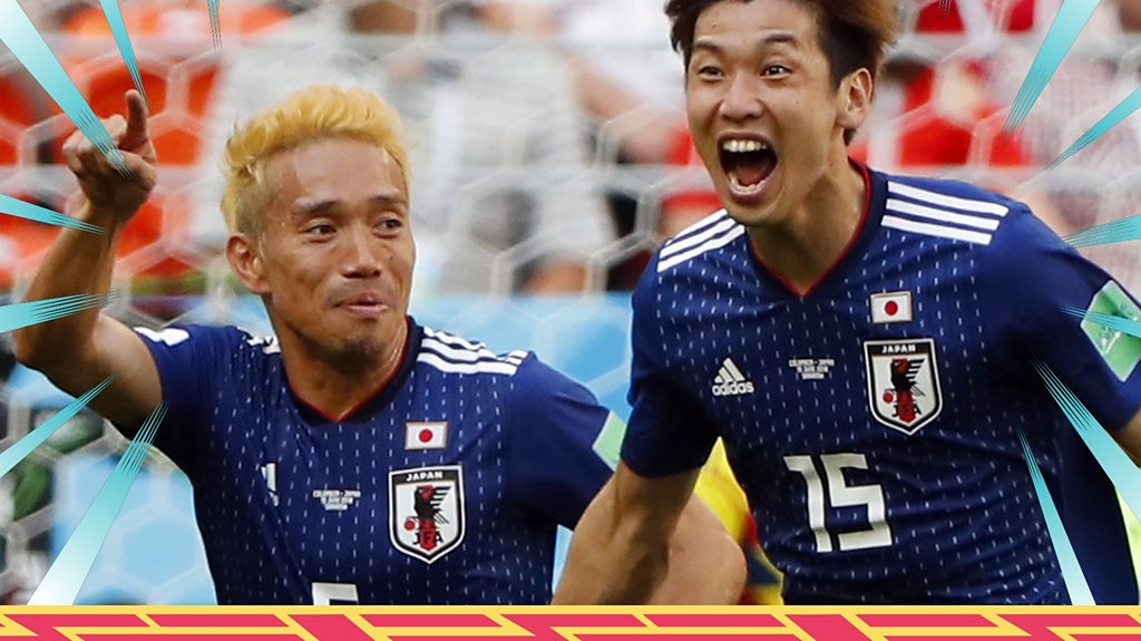 Japan beat 10-man Colombia - watch the best of the action
