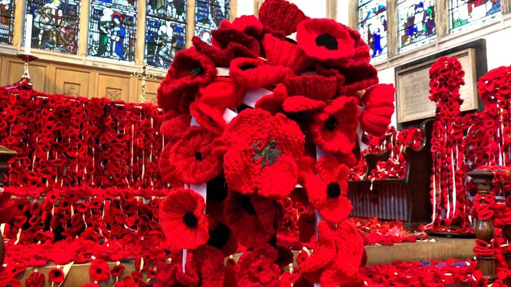 Norfolk World War One handmade poppy display takes over church