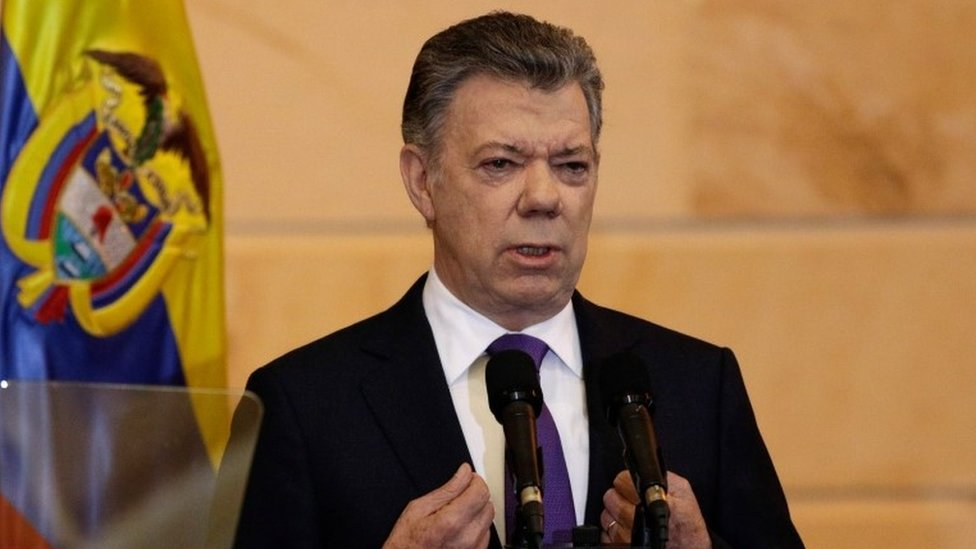 President Santos speaking at the opening of the new Congress (20/07/2018)