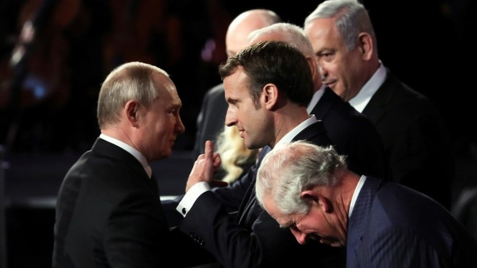 Vladimir Putin y Emmanuel Macron