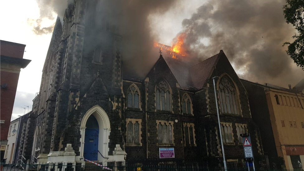 Newport church fire: Pastor urges community to 'be strong'