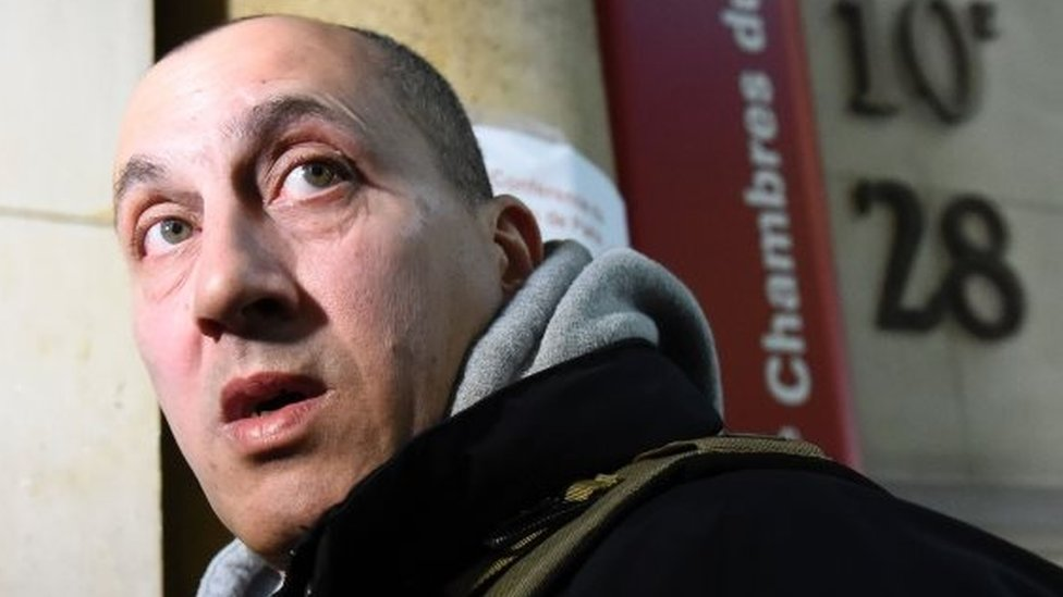 Vjeran Tomic arrives for his trial in Paris, France. Photo: 30 January 2017