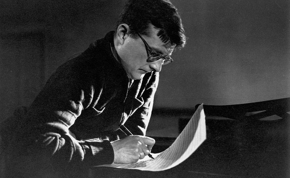 Shostakovich composing