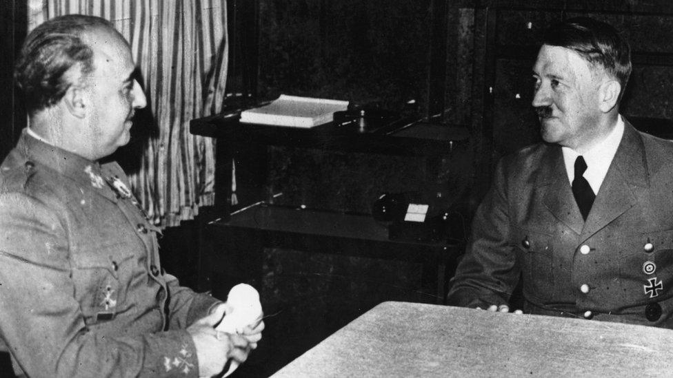 Francisco Franco y Adolfo Hitler