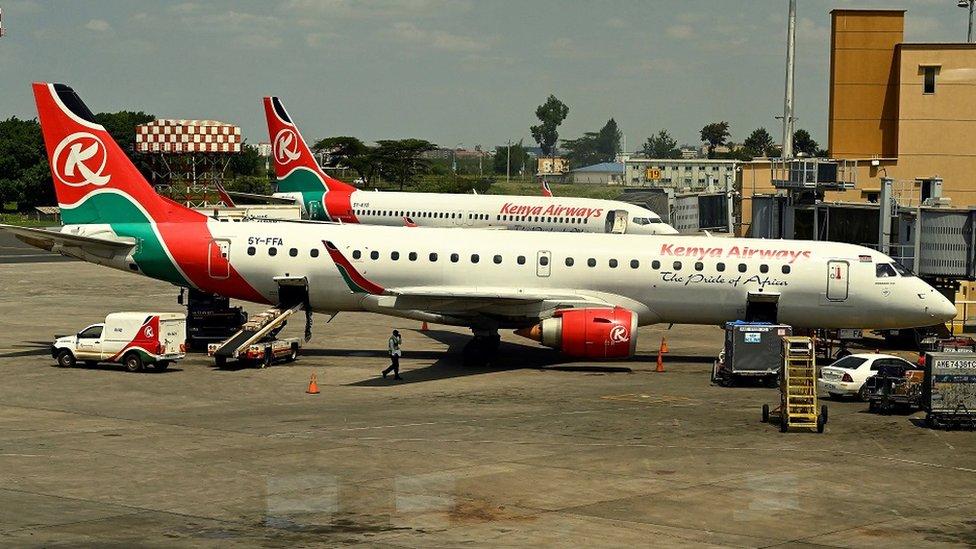 طائرات تابعة للخطوط الجوية الكينية