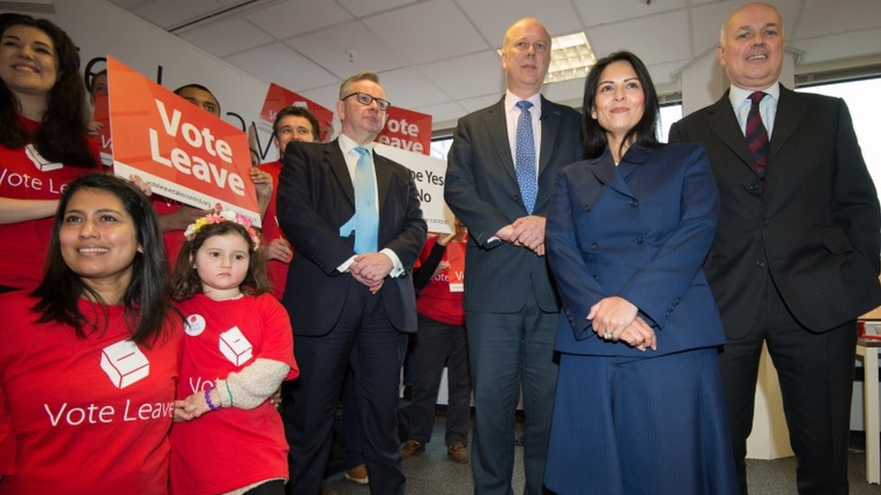 Ministers at Vote Leave launch