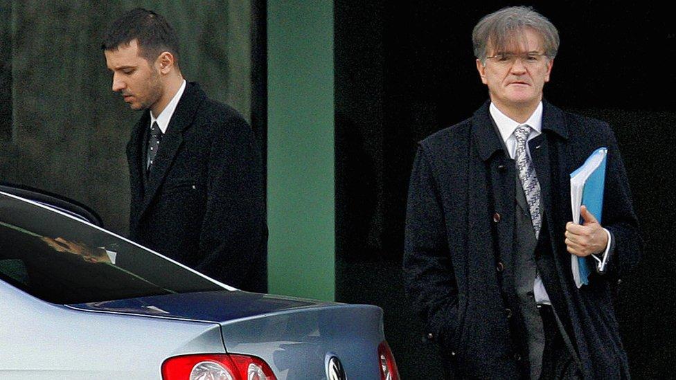 Marko Milošević (levo) i advokat Zdenko Tomanović (desno)