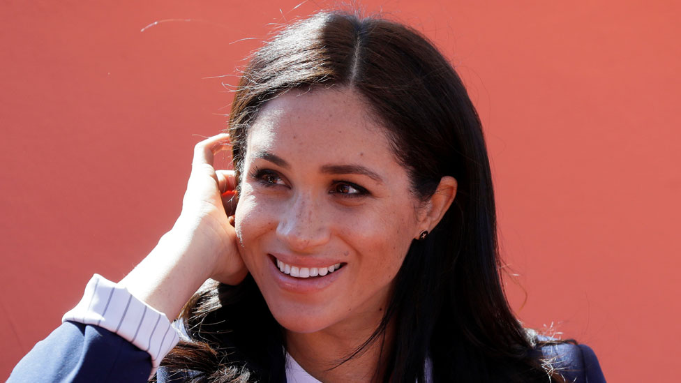 The Duchess of Sussex in Morocco in February 2019