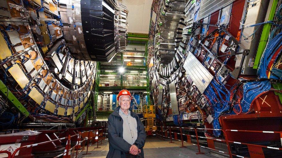 Piter Higs u poseti CERN-u