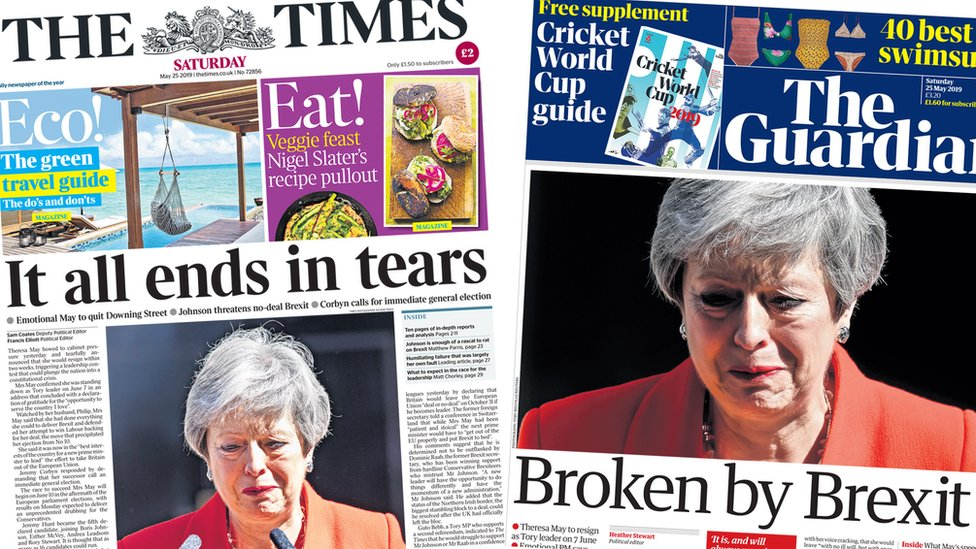The Papers: 'It all ends in tears' for PM May