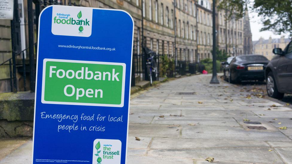 food bank sign