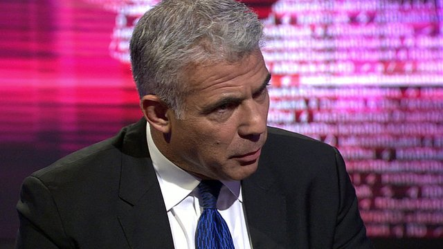 Yair Lapid, the leader of Israel's Yesh Atid party