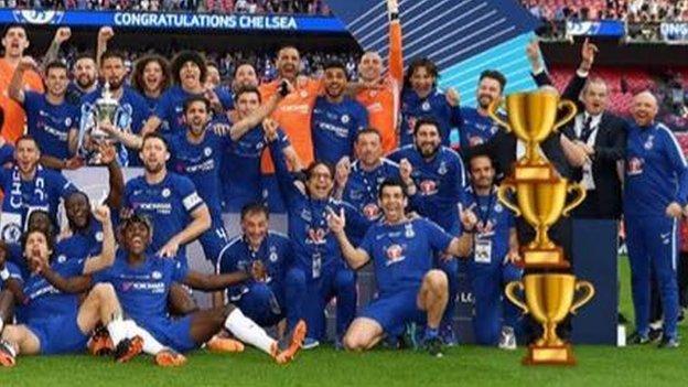 Willian: Chelsea midfielder 'erases' Antonio Conte with cup emojis