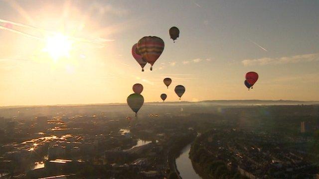 Hot air balloons take to the skies above Bristol