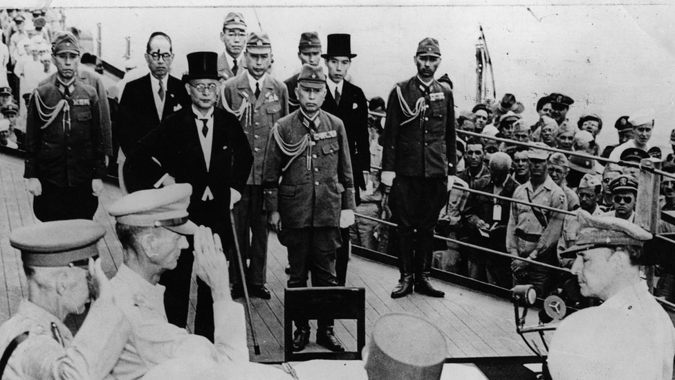 Japanese surrender at end of Second World War