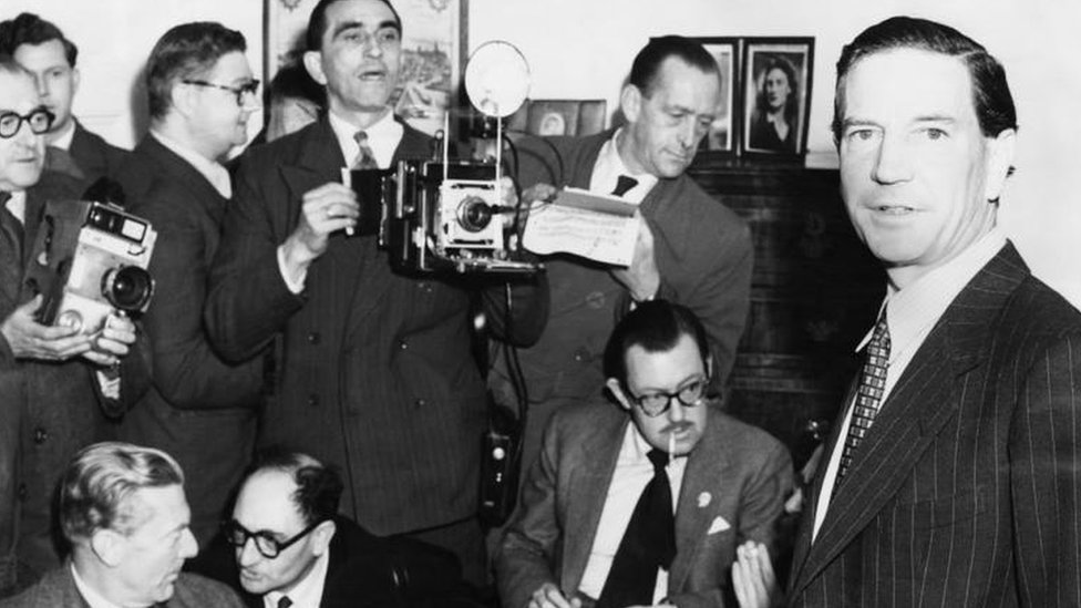Kim Philby at a press conference in 1955