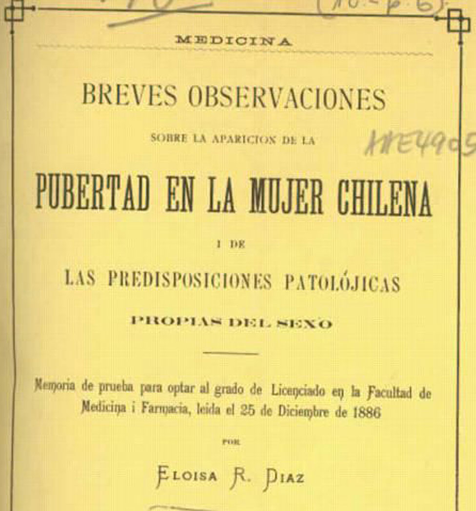 La tesis que escribió Díaz