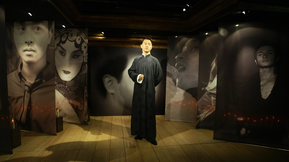 Leslie Cheung's waxwork at Madame Tussauds waxworks in Hong Kong