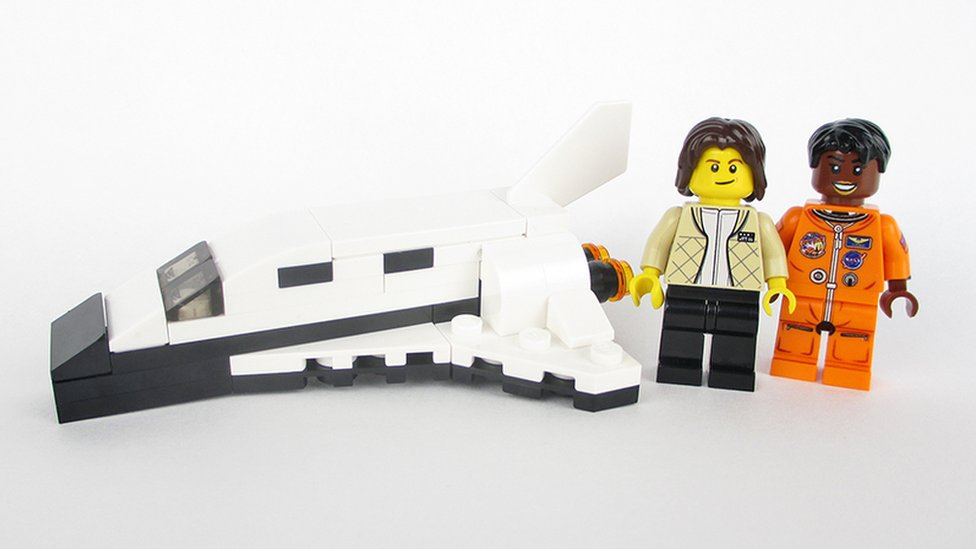 Astronauts Sally Ride and Mae Jemison in Lego