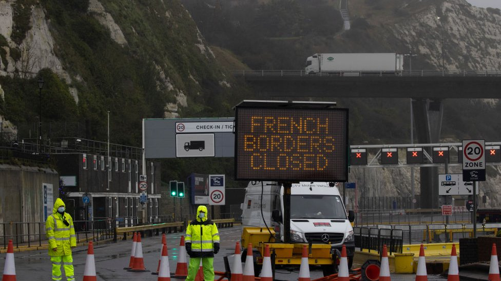 Dover Port is closed as new travel restrictions to the continent remain in place