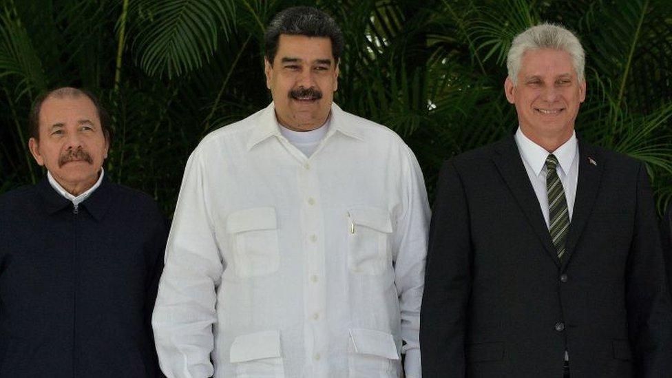 Ortega, Maduro y Díaz-Canel