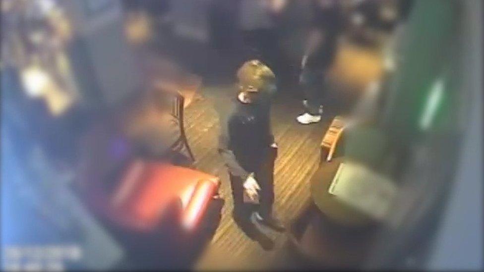 CCTV image of Alena Grlakova in a pub