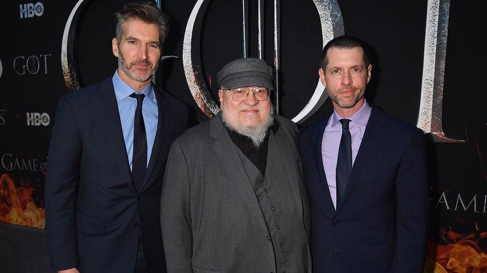 David Benioff, George R. R. Martin y D.B Weiss.