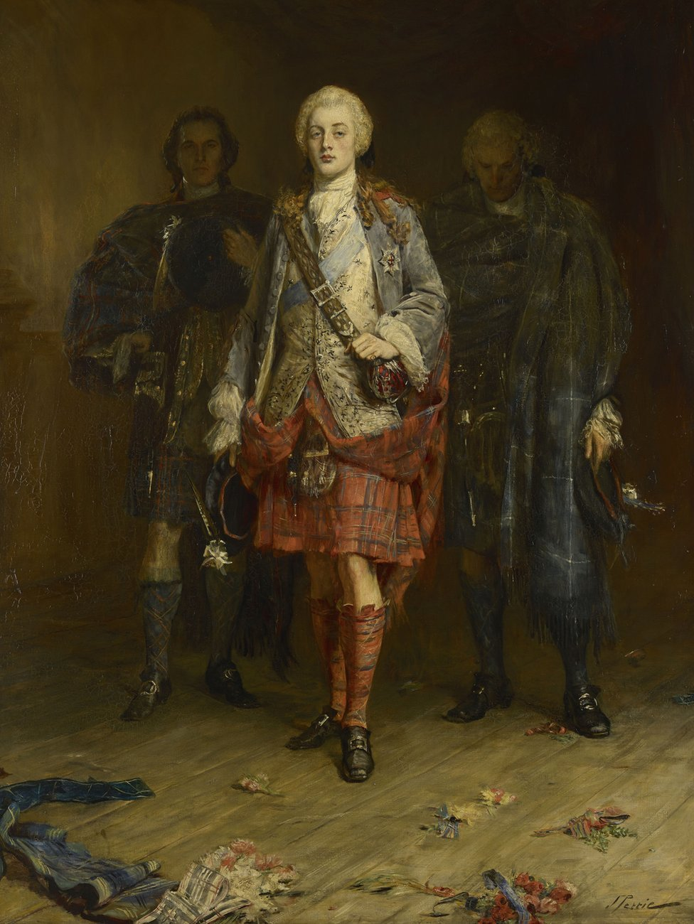 John Pettie, Bonnie Prince Charlie Entering the Ballroom at Holyroodhouse, before 30 Apr 1892.jpg