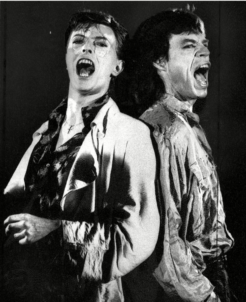 Bowie and Mick Jagger