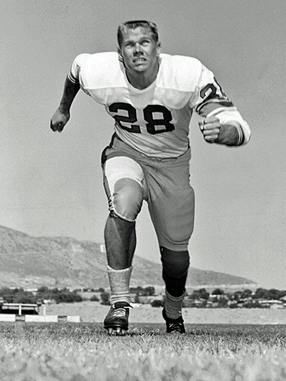 John Corcoran cuando era un joven atleta