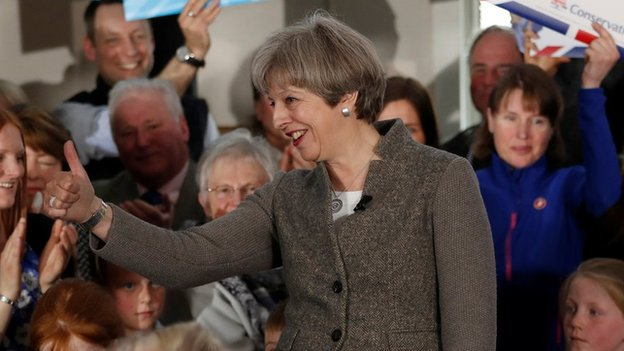 Theresa May campaigning in Aberdeenshire